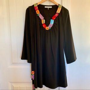 Trina Turk Embroidered Silk Dress